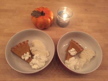 Pumpkin Pie for dessert